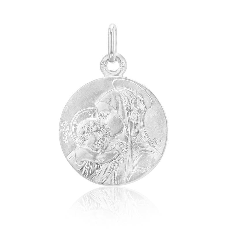 Médaille de baptême Vierge à l'enfant