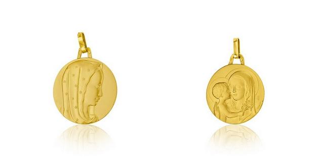 Médaille de baptême représentant la Vierge : quelle effigie et quelle signification ?
